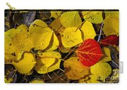 Red On Yellow Carry-all Pouch