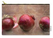 Red Onions On Barnboard Carry-all Pouch