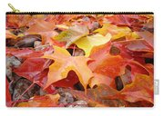 Red Orange Autumn Leaves Art Prints Carry-all Pouch
