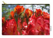 Red Orange Roses Art Prints Floral Photography Carry-all Pouch