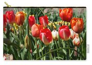 Red Orange Tulip Flowers Art Prints Carry-all Pouch