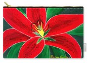 Red Oriental Daylily Carry-all Pouch