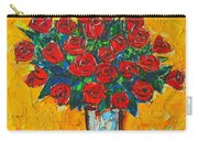Red Passion Roses Carry-all Pouch by Ana Maria Edulescu