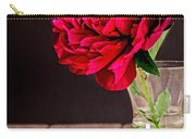 Red Peony Flower Vase Carry-all Pouch by Edward Fielding