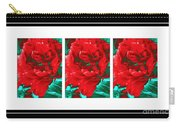 Red Peony Triptych Carry-all Pouch