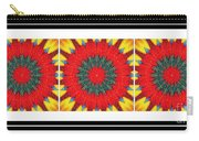 Red Peppered Sunshine - Abstract - Triptych Carry-all Pouch