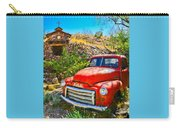 Red Pickup Truck At Santa Fe Carry-all Pouch