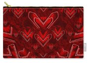 Red Pop Art Hearts Carry-all Pouch