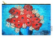 Red Poppies And White Daisies Carry-all Pouch