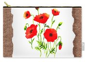 Red Poppies Decorative Collage Carry-all Pouch by Irina Sztukowski