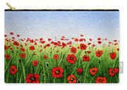 Red Poppies Green Field And A Blue Blue Sky Carry-all Pouch