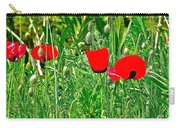 Red Poppies Near Meryem Ana Evi-cottage Believed To Be Mary's Last Home-turkey Carry-all Pouch