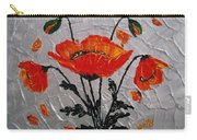 Red Poppies Original Palette Knife Carry-all Pouch