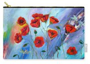 Red Poppy With Dragonfly Carry-all Pouch