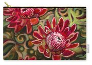 Red Proteas Carry-all Pouch by Jen Norton