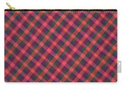 Red Purple And Green Diagonal Plaid Textile Background Carry-all Pouch