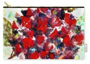 Red Purple Flower Carry-all Pouch