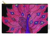 Red - Purple Peacock Carry-all Pouch