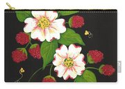Red Raspberries And Dogwood Flowers Carry-all Pouch