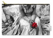 Red Red Rose In Black And White Carry-all Pouch