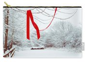 Red Ribbon In Tree Carry-all Pouch by Amanda Elwell