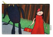 Red Ridinghood Carry-all Pouch by James W Johnson
