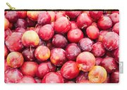 Red Ripe Plums Carry-all Pouch