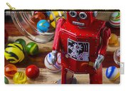 Red Robot And Marbles Carry-all Pouch