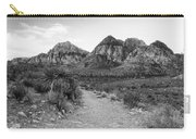 Red Rock Canyon Trailhead Black And White Carry-all Pouch