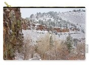 Red Rock Winter Drive Carry-all Pouch by James BO  Insogna