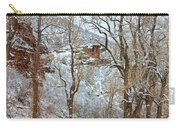 Red Rock Winter Road Portrait Carry-all Pouch by James BO  Insogna