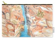 Red Rocks Of Water Carry-all Pouch