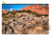 Red Rocks Over White Carry-all Pouch