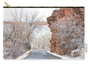 Red Rocks Winter Landscape Drive Carry-all Pouch by James BO  Insogna
