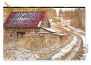 Red Roof In The Snow  Carry-all Pouch