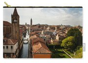 Red Roofs Of Europe - Venetian Canal Palaces Gardens And Courtyards Carry-all Pouch