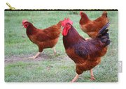 Red Rooster And Hens Carry-all Pouch