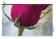 Red Rose And Kale Flower Carry-all Pouch