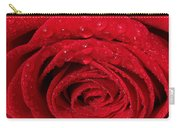 Red Rose And Water Drops Carry-all Pouch