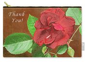 Red Rose Autumn Texture Thank-you  Carry-all Pouch