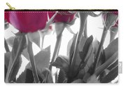 Red Rose Color Block Carry-all Pouch
