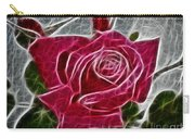 Red Rose Expressive Brushstrokes Carry-all Pouch