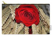 Red Rose On A Bed Of Wheat Carry-all Pouch