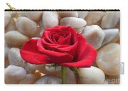 Red Rose On River Rocks 2 Carry-all Pouch