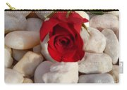 Red Rose On River Rocks Carry-all Pouch