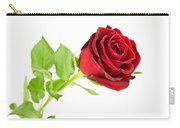 Red Rose On White Carry-all Pouch