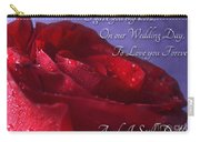 Red Rose Romantic Greeting Card Carry-all Pouch
