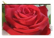 Red Rose With Garden Background  Carry-all Pouch
