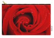 Red Rose With Water Drops Carry-all Pouch