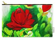 Red Roses From The Garden Impression Carry-all Pouch